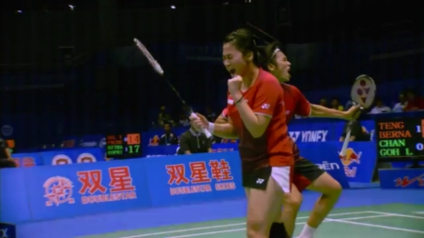 Sudirman Cup 2011 Indonesia vs Malaysia 005 Mixed Double Singal of SNG 720p.mp4_002589680