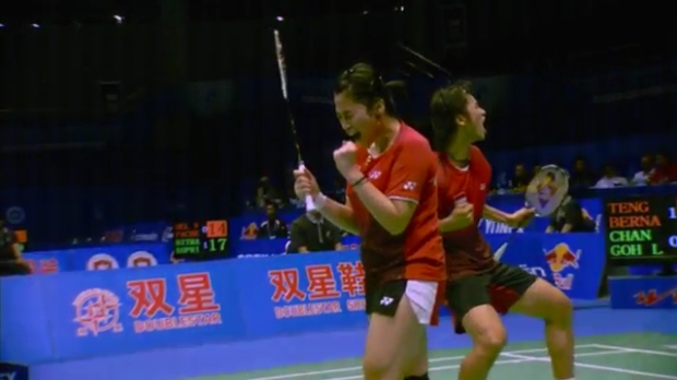 Sudirman Cup 2011 Indonesia vs Malaysia 005 Mixed Double Singal of SNG 720p.mp4_002591120