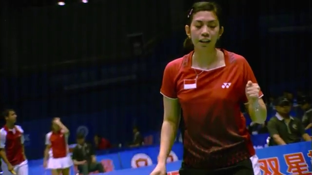 Sudirman Cup 2011 Indonesia vs Malaysia 005 Mixed Double Singal of SNG 720p.mp4_003087880