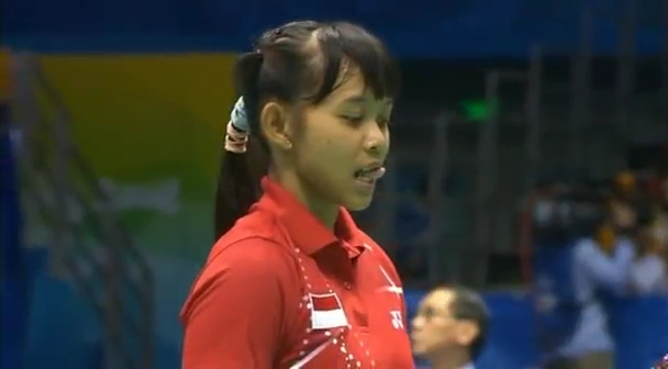 2008 Bronze Medal - Women Single Olympic - Maria K Yulianti vs Lu Lan.mp4_004193960